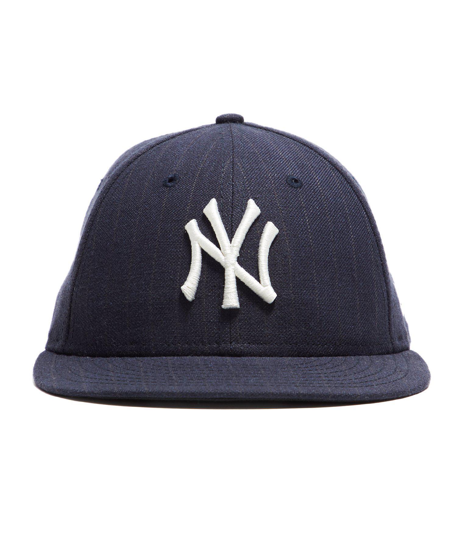 206c9acd874 Lyst - NEW ERA HATS New York Yankees Cap In Navy Pinstripe in Blue ...
