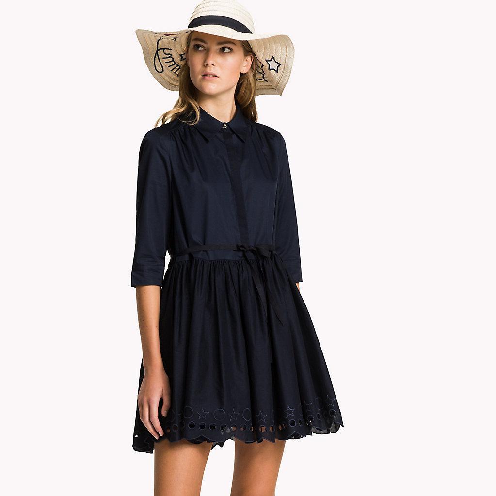 7917d82fbf8 Tommy Hilfiger Hayette Dress 1/2 Sleeve in Blue - Lyst