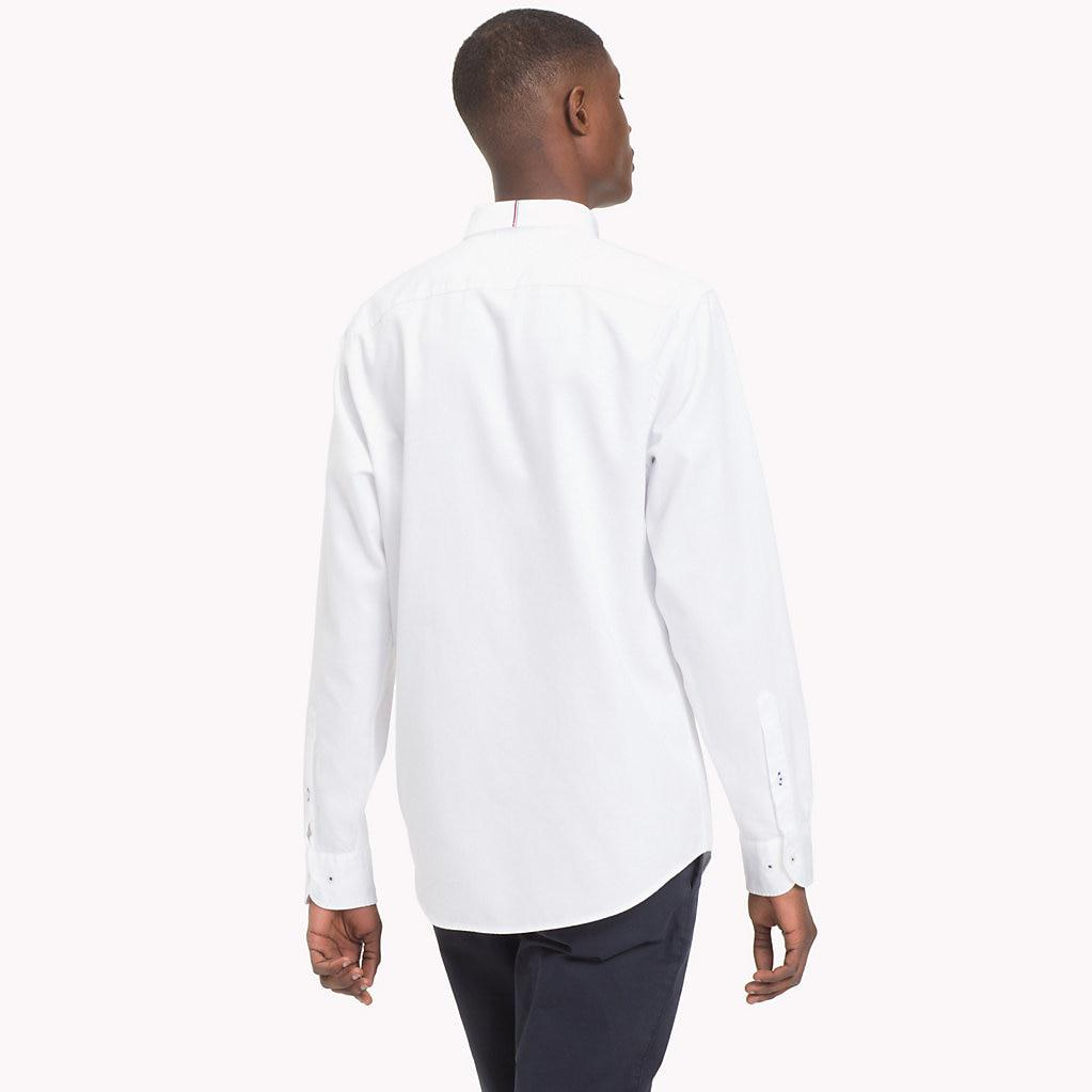 7e07ccd58 Tommy Hilfiger - White Two-tone Dobby Shirt for Men - Lyst. View fullscreen