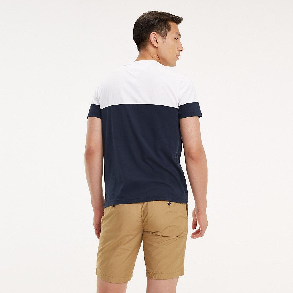 47359289078106 Tommy Hilfiger - White Colour-blocked Cotton T-shirt for Men - Lyst. View  fullscreen