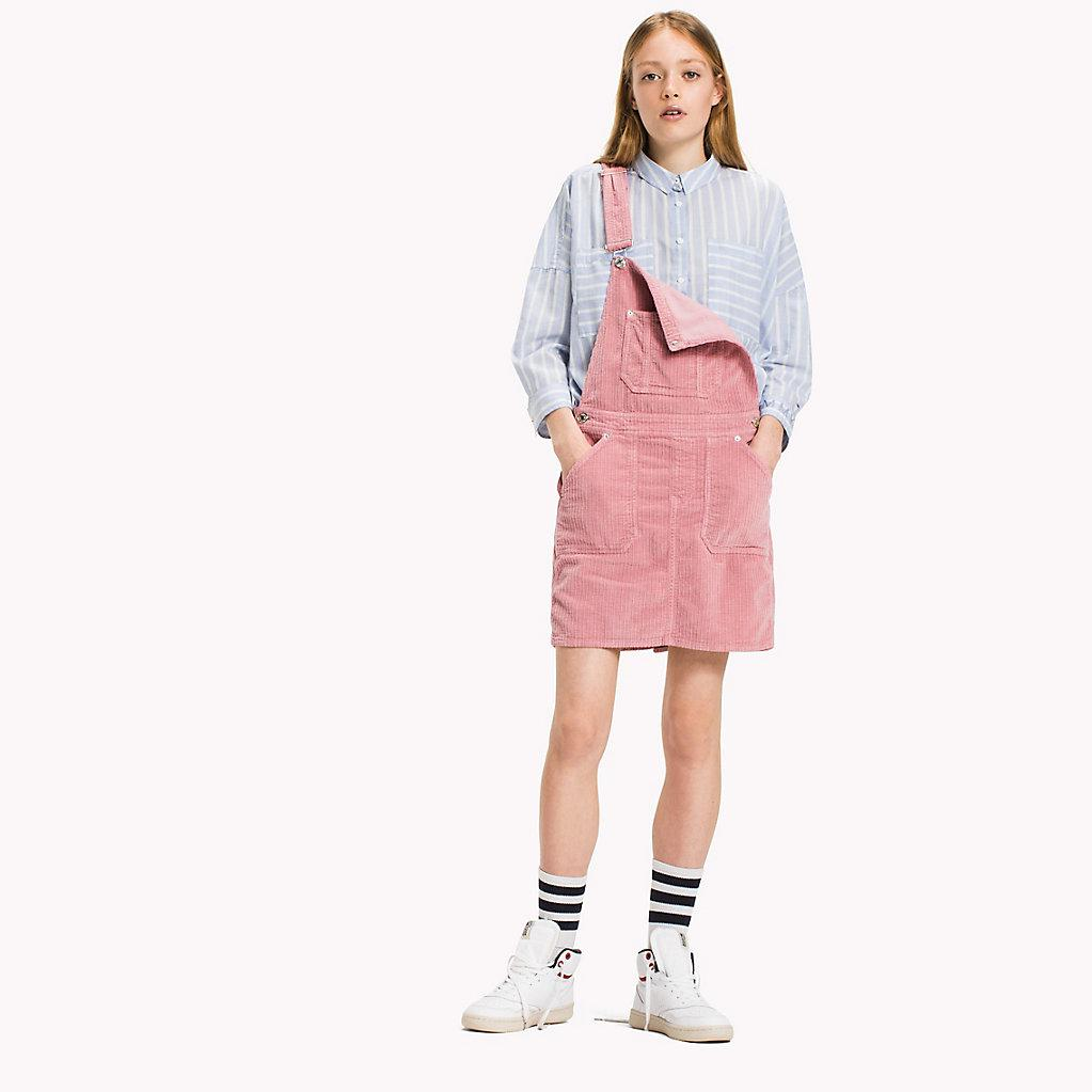 06ac1a48 Tommy Hilfiger Corduroy Dungaree Dress in Pink - Lyst