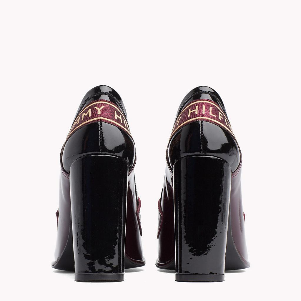 17a0fdcbe Tommy Hilfiger Iconic Patent Leather High Heel Loafers - Lyst