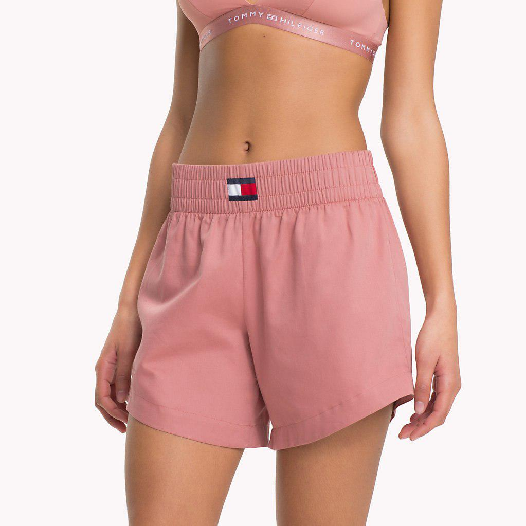 e9f72bbb47 Tommy Hilfiger Wide Waistband Shorts in Purple - Lyst