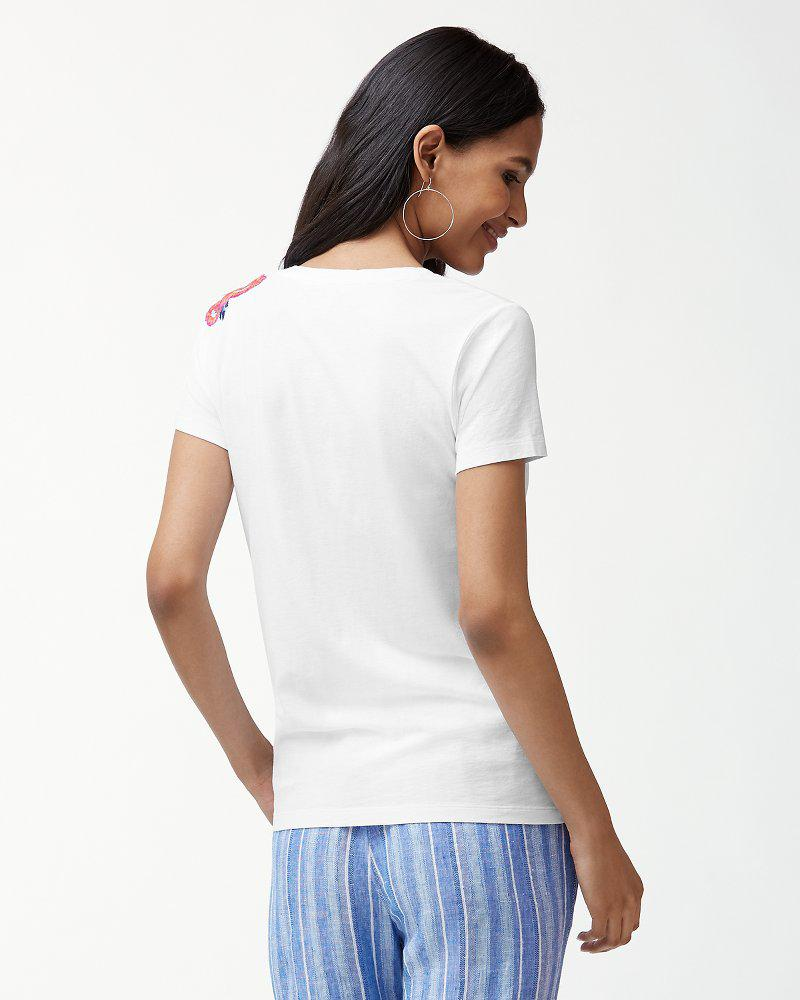 6312f806 Lyst - Tommy Bahama Frieda Floral Embroidered T-shirt in White