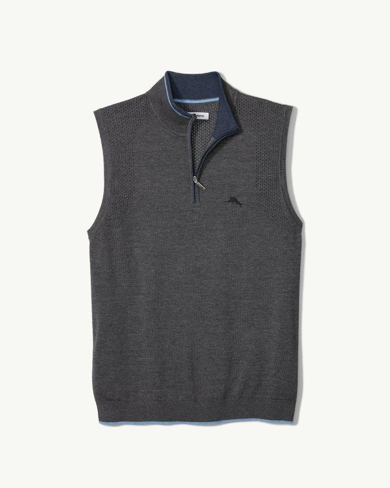 ac07e9ec74387 Lyst - Tommy Bahama Island Fairway Islandzone® Half-zip Vest in Gray ...
