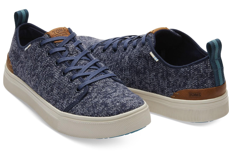 c5b295dc042 TOMS - Blue Navy Melange Trvl Lite Low Men s Sneakers for Men - Lyst. View  fullscreen