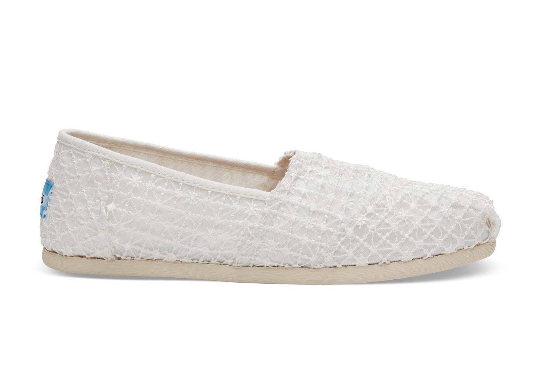 TOMS White Crochet Lace Women s Classics in White - Lyst 159f2bcb887