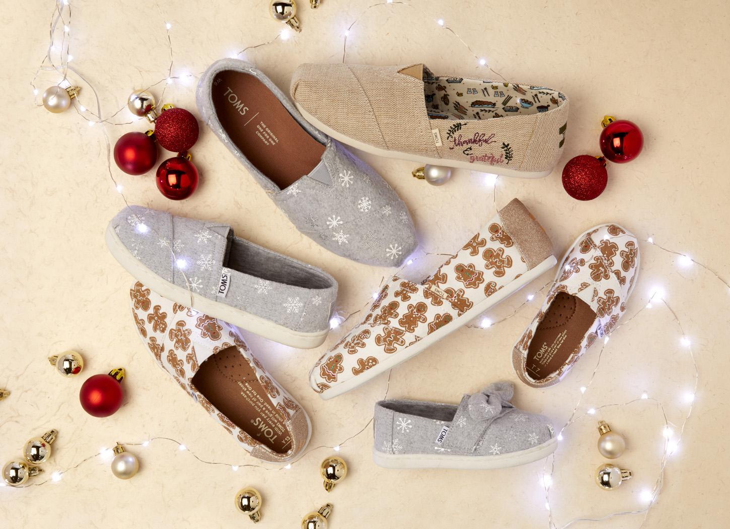 TOMS - Natural Heritage Embroidered Thankful Women s Classics - Lyst. View  fullscreen c60651cd7a