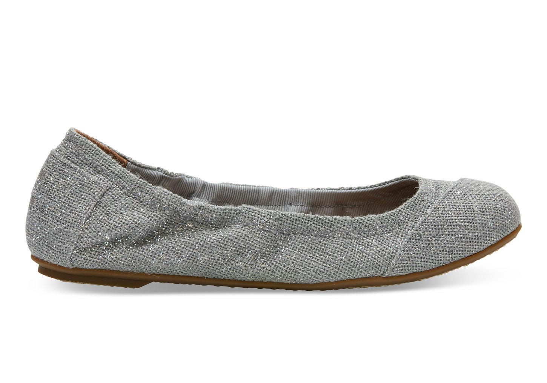 efeb5a9d4a TOMS Drizzle Grey Linen Women's Ballet Flats in Gray - Lyst