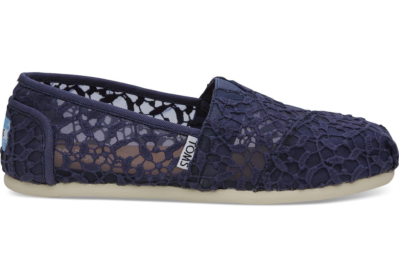 8bd146d093eb TOMS - Blue Classic Lace Fabric Flat Shoe - 9.5m - Lyst. View fullscreen