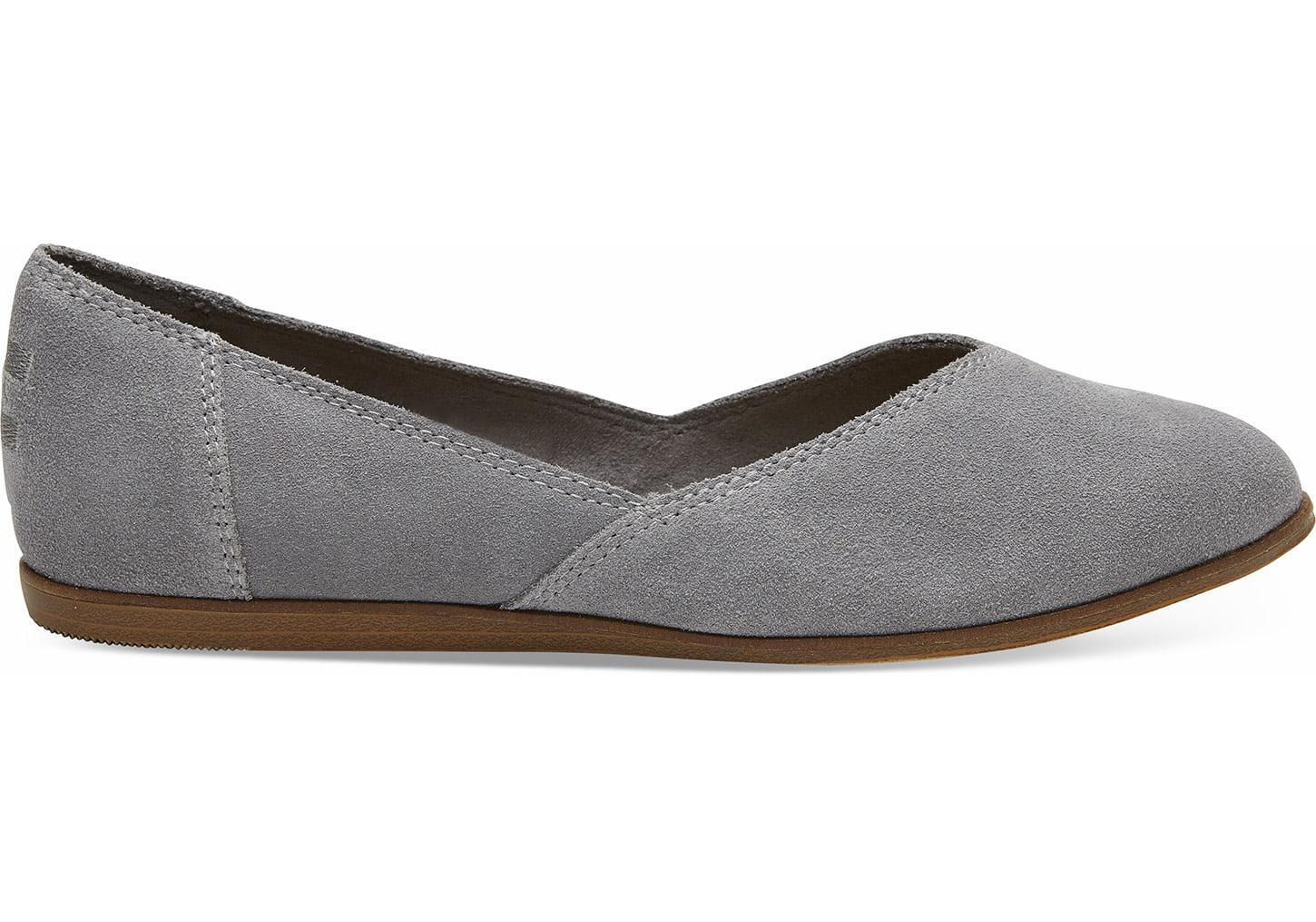 25337524bed9 Toms Shade Suede Women s Jutti Flats in Gray - Lyst