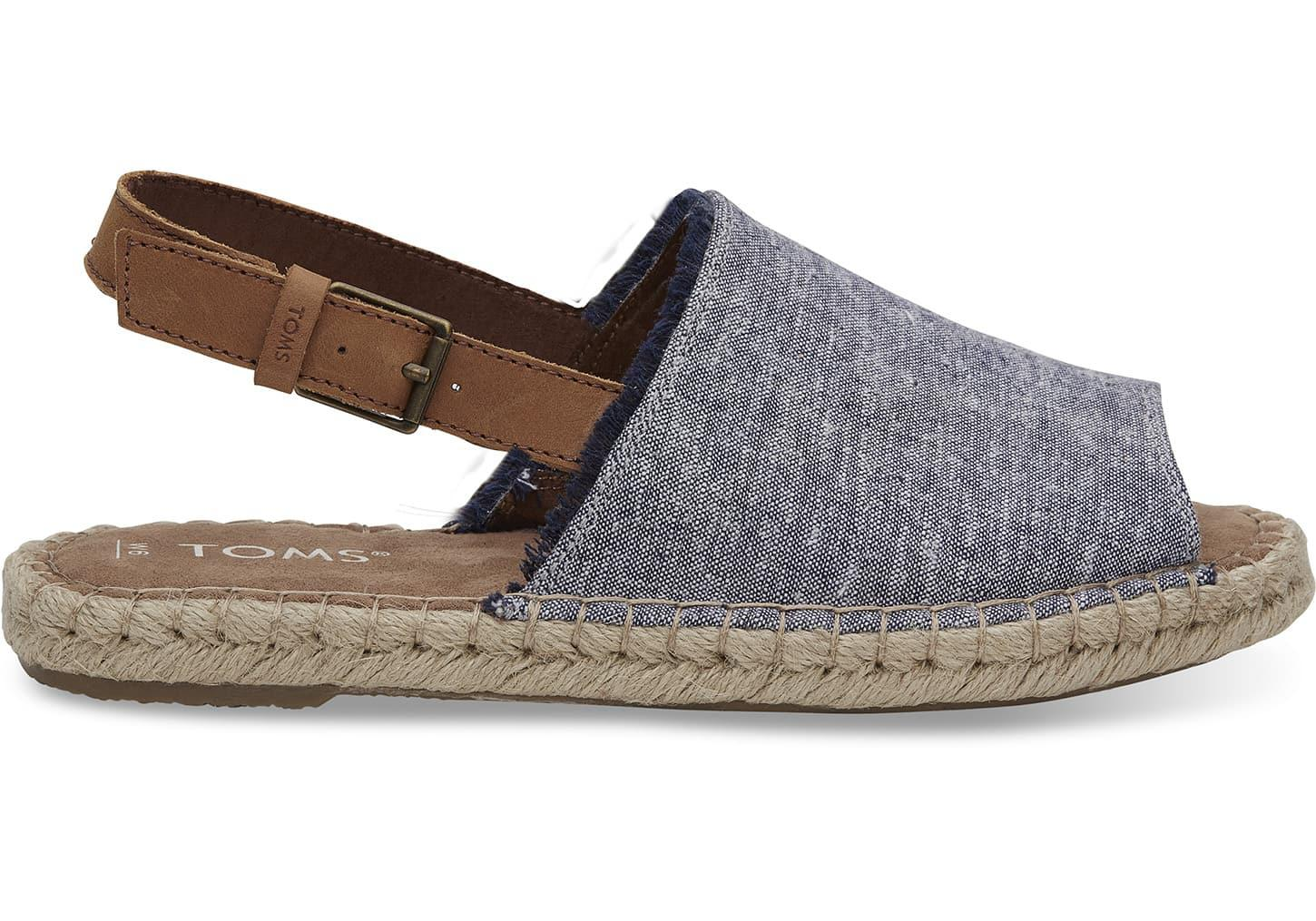 db44aa6df11 Toms Navy Slub Chambray Women s Clara Espadrilles in Blue for Men - Lyst