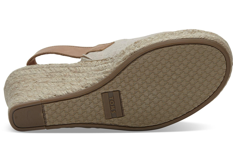 28b937f94b50 TOMS - Natural Women s Monica Hemp Espadrille Platform Wedge Sandals -  Lyst. View fullscreen