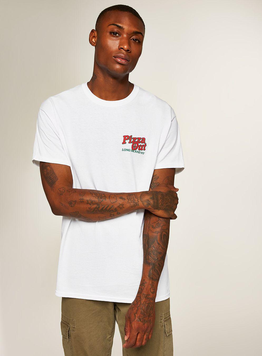 ef64f40d Topman White Pizza T-shirt in White for Men - Lyst