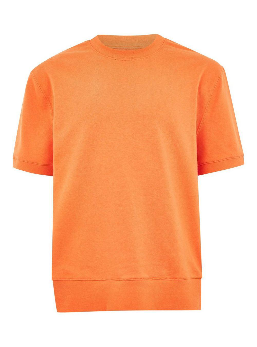 aed9b262 Topman - Orange Short Sleeve Sweatshirt for Men - Lyst. View fullscreen