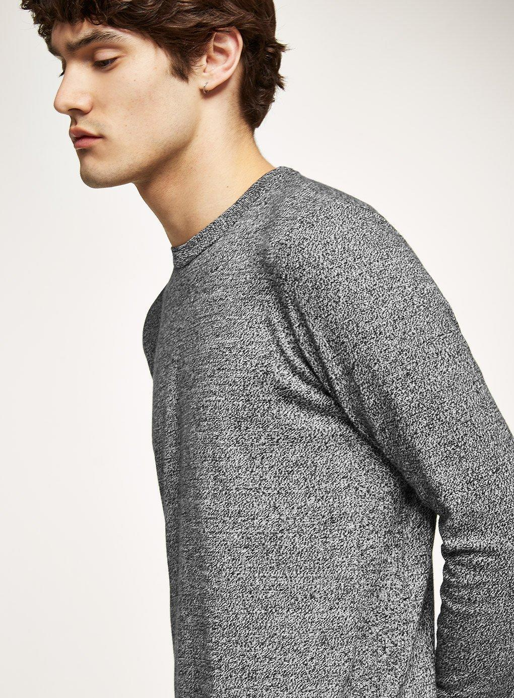 74339580cfe8 Topman - Gray Grey Black And White Twist Jumper for Men - Lyst. View  fullscreen