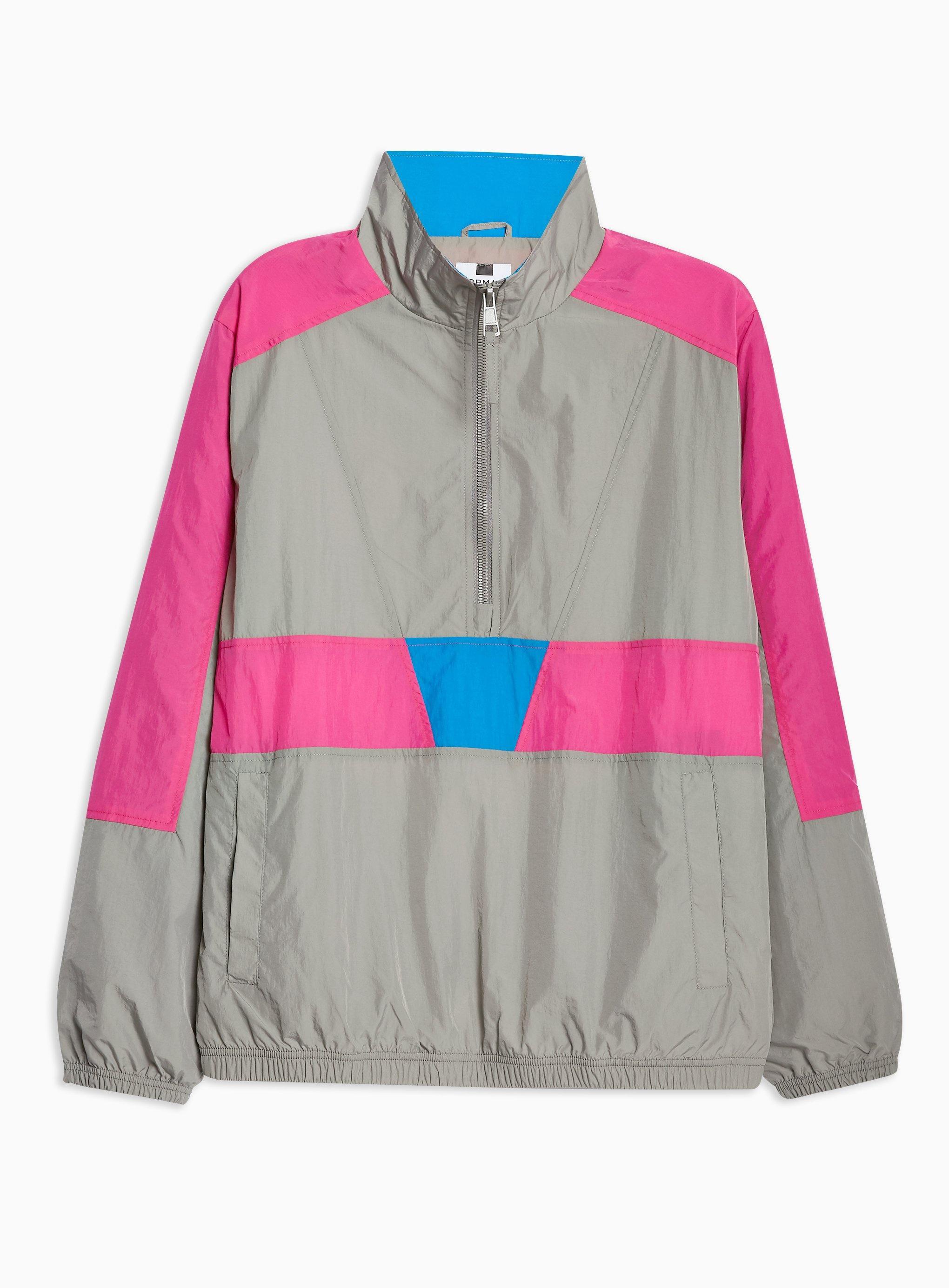 84eac3440 TOPMAN Grey Overhead Windbreaker Jacket in Gray for Men - Lyst