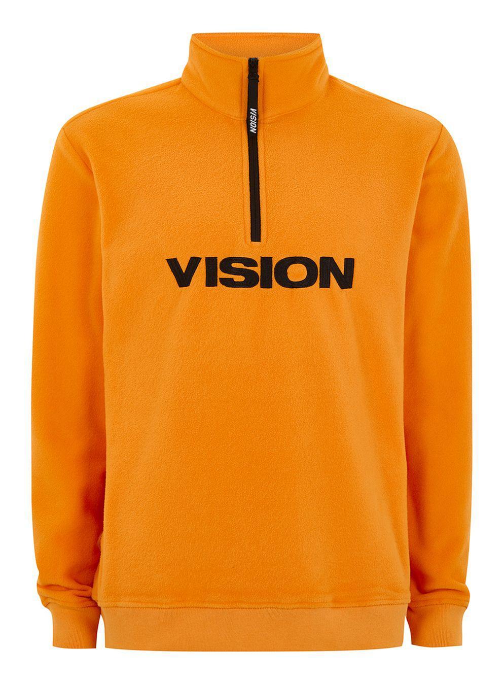 ee8404073 TOPMAN Vision Street Wear Yellow Half Zip Track Top in Yellow for ...