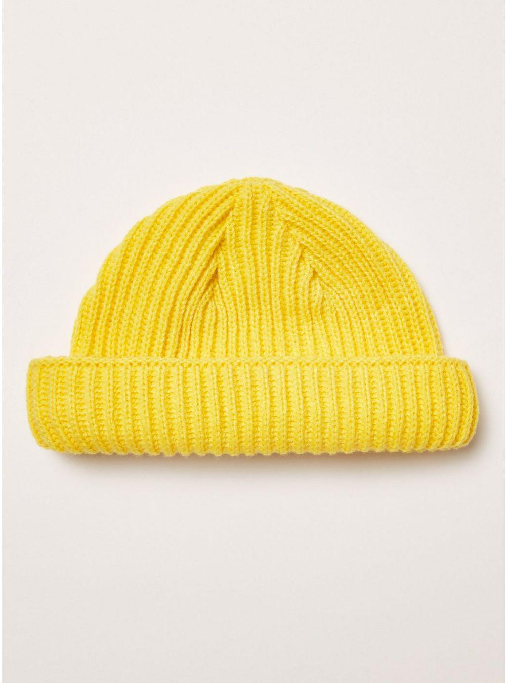 3621c74dc6a TOPMAN Yellow Ribbed Docker Beanie in Yellow for Men - Lyst