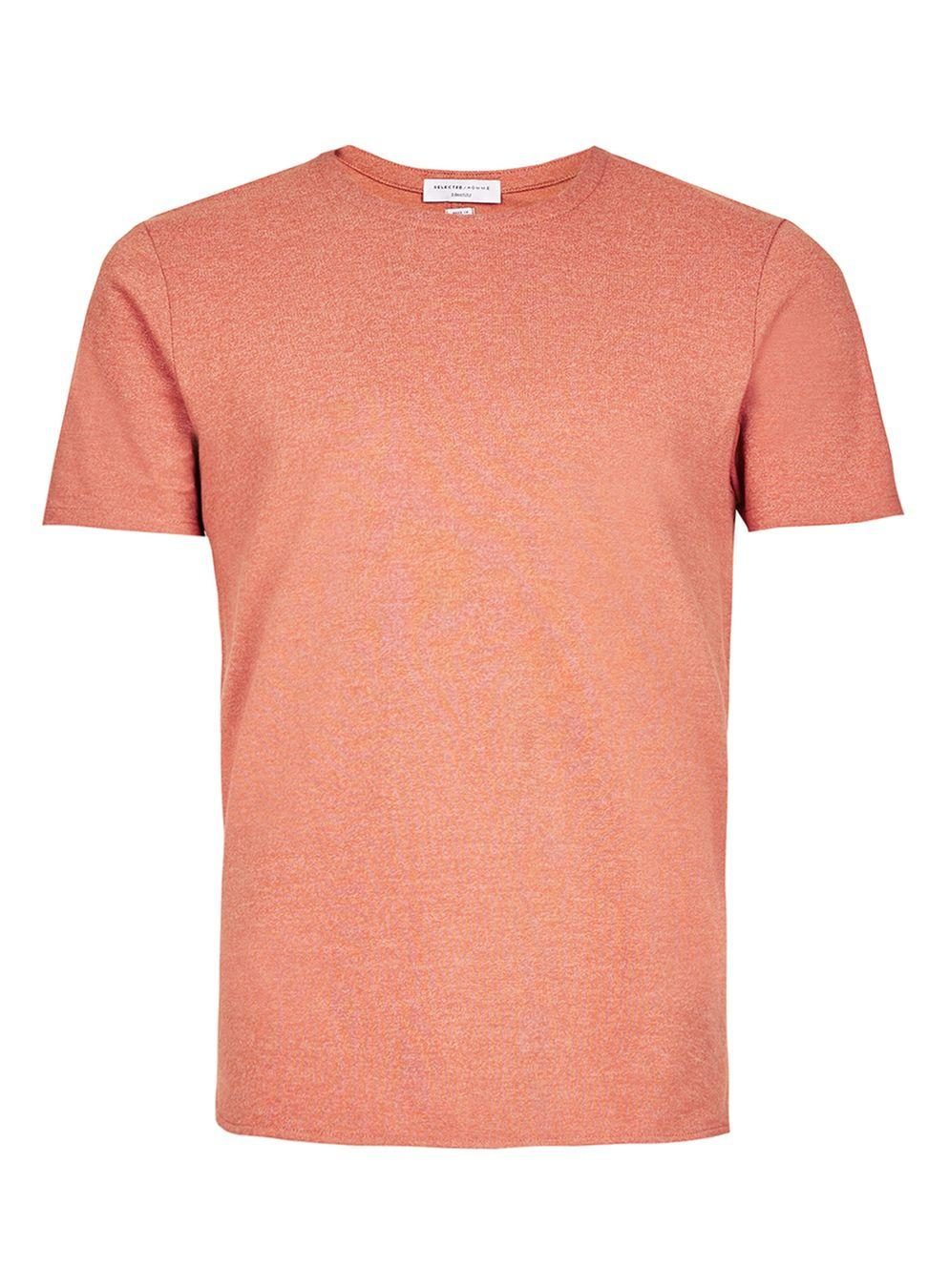 Selected Selected Homme Dark Pink T Shirt In Pink For Men