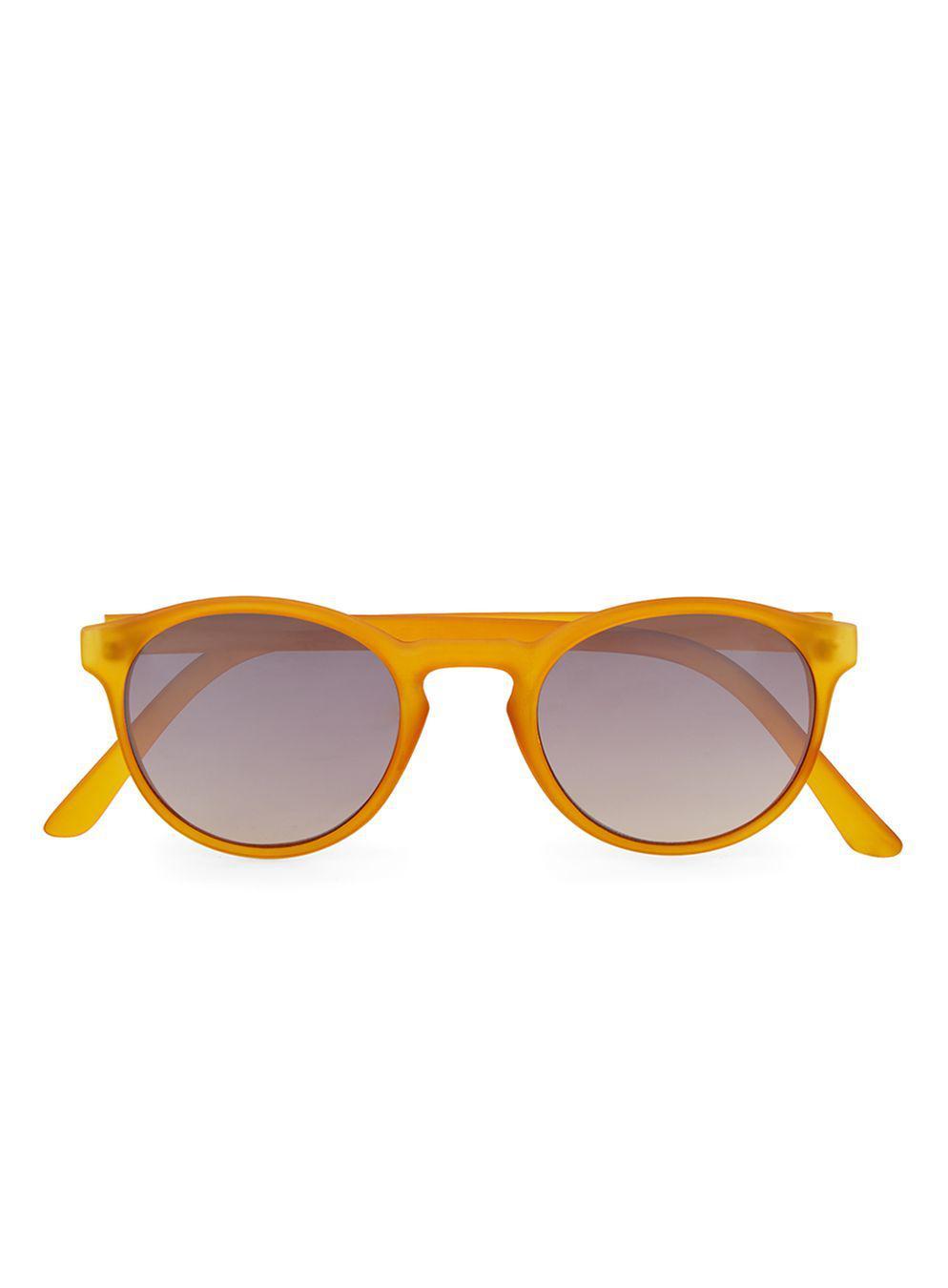fc829e48c284e TOPMAN Orange Round Mirrored Sunglasse in Orange for Men - Lyst