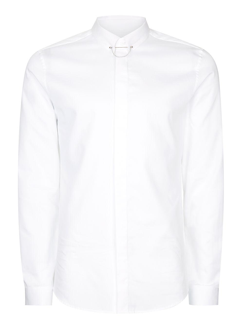 Lyst topman white egyptian cotton shirt in white for men for Mens egyptian cotton dress shirts