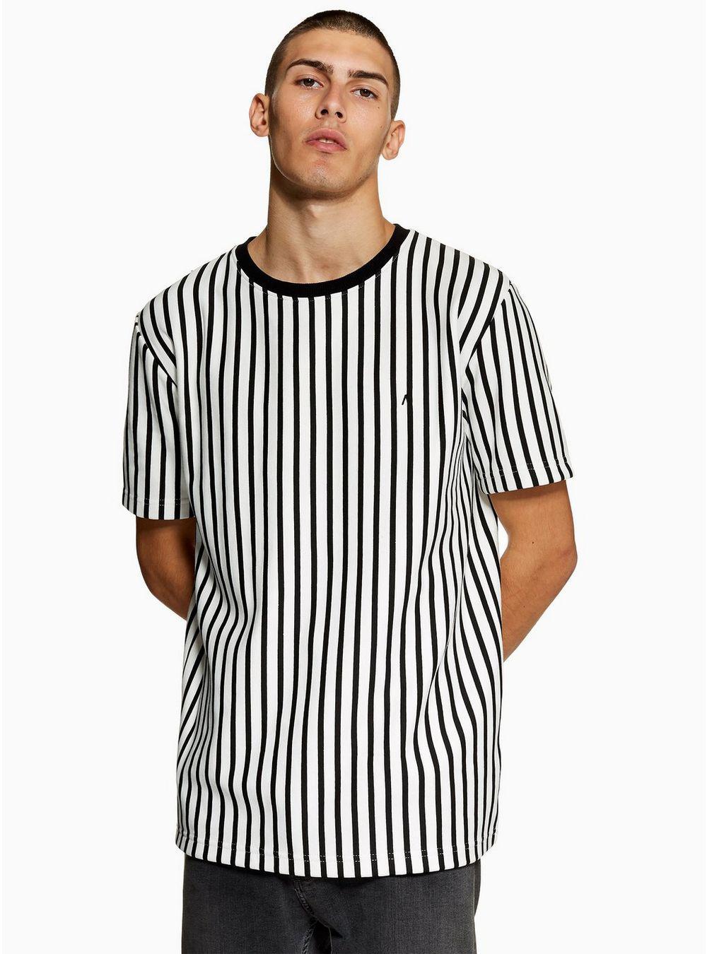 3c3ea3ee Antioch White College Stripe Short Sleeve Sweatshirt in White for ...