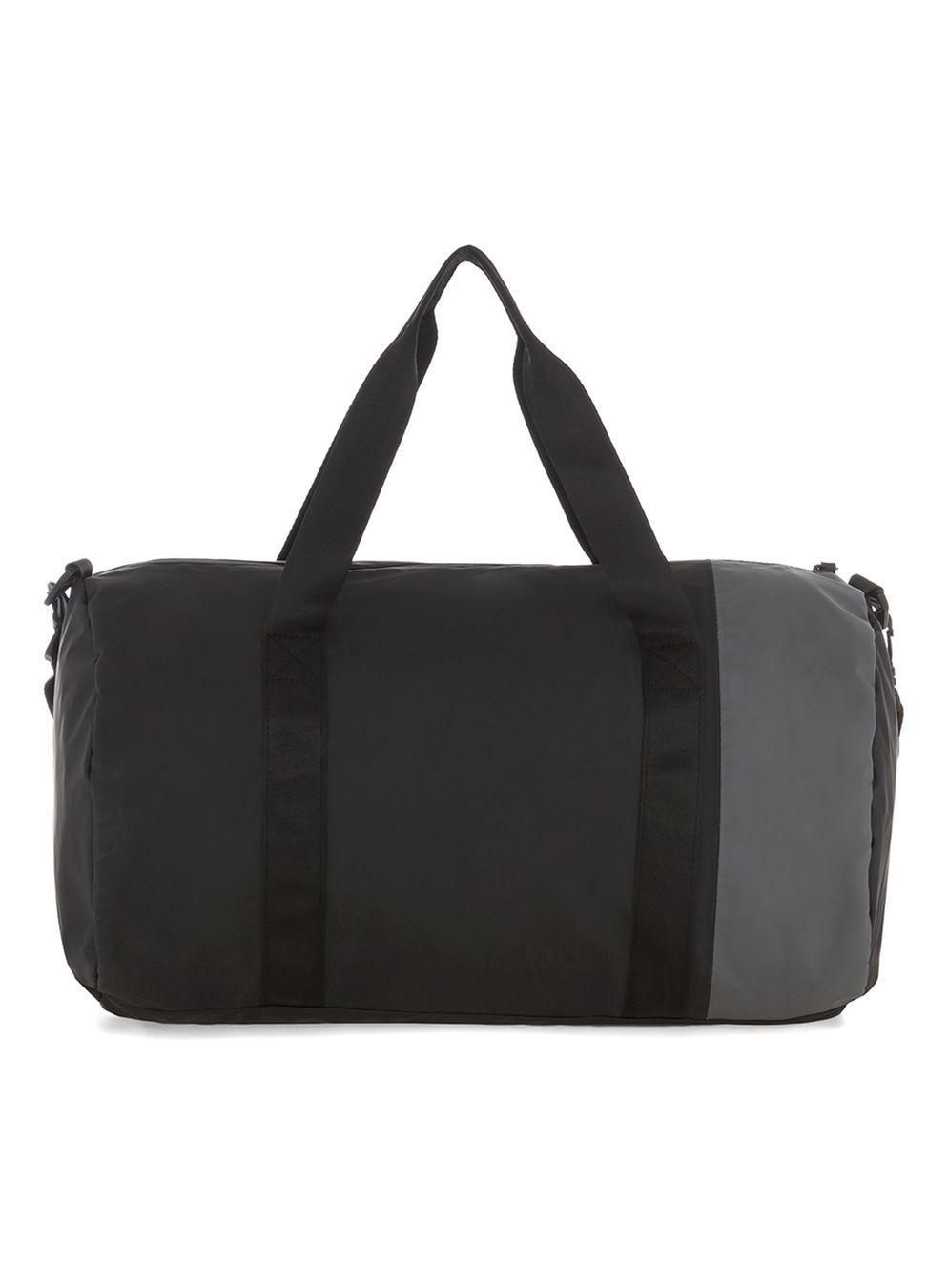 9783fa41cd Lyst - TOPMAN Black And Grey Gym Bag in Black for Men