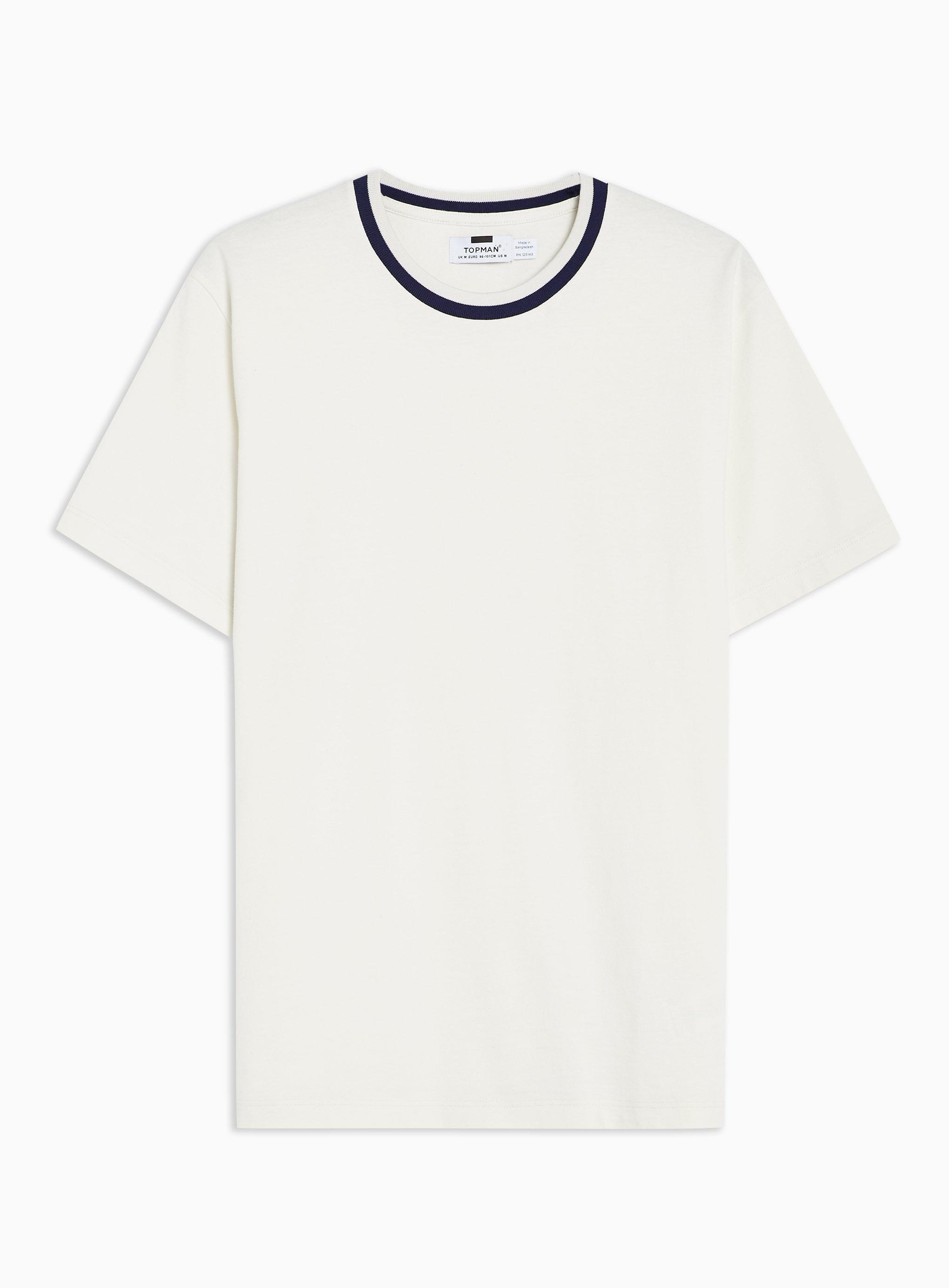 49e3c107 Lyst - TOPMAN Off White Ringer T-shirt in White for Men