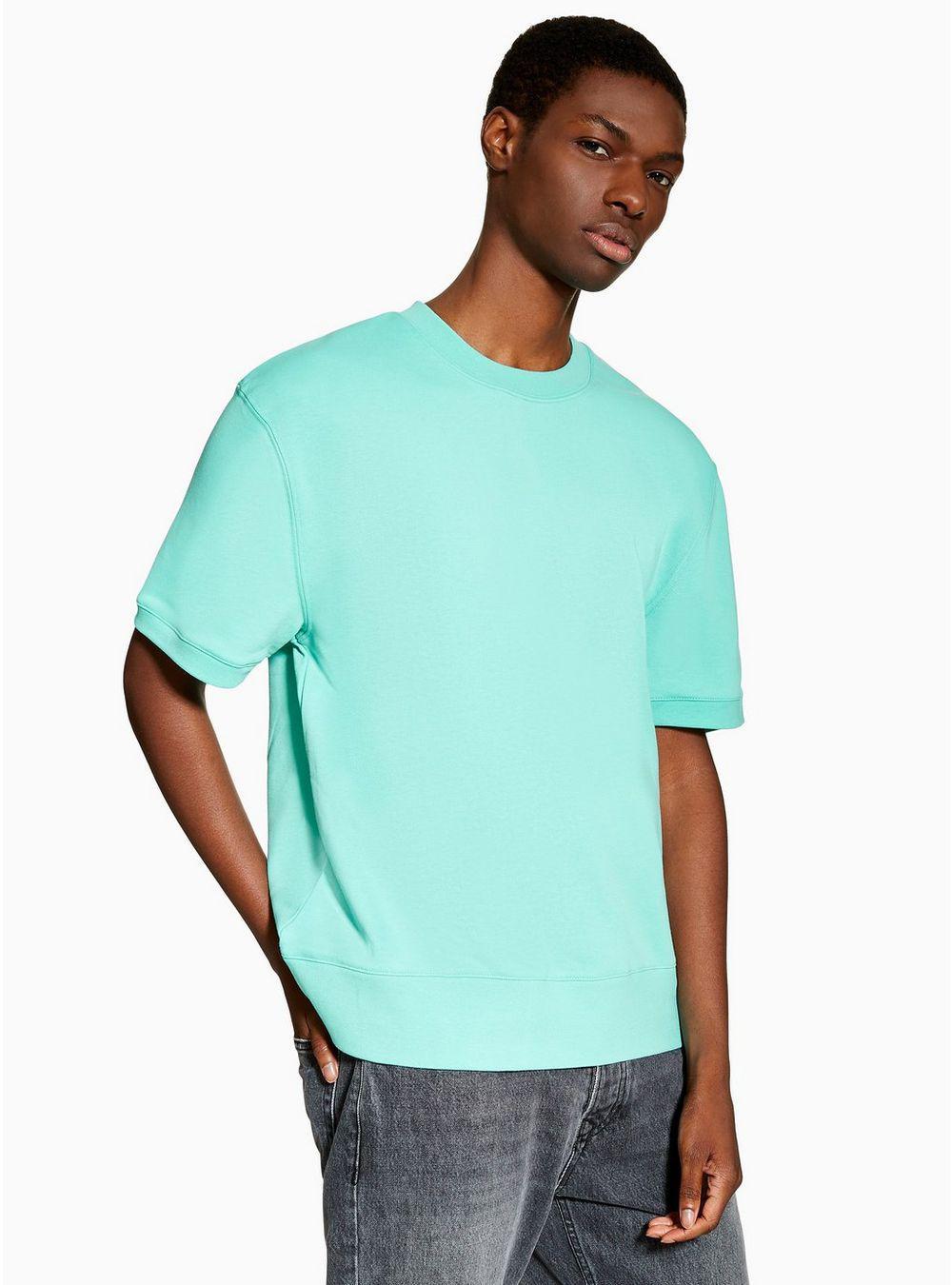 75fe54b9 Topman Green Sweatshirt in Blue for Men - Lyst