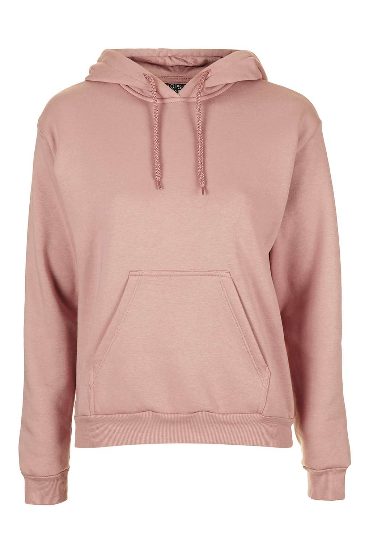 Topshop Clean Hoodie in Pink (Blush) | Lyst