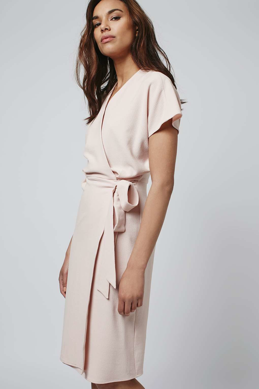 Topshop Wrap Dress in Metallic | Lyst - photo #42