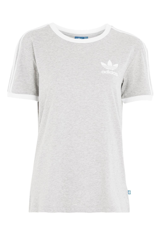Topshop California T-shirt By Adidas Originals in Gray