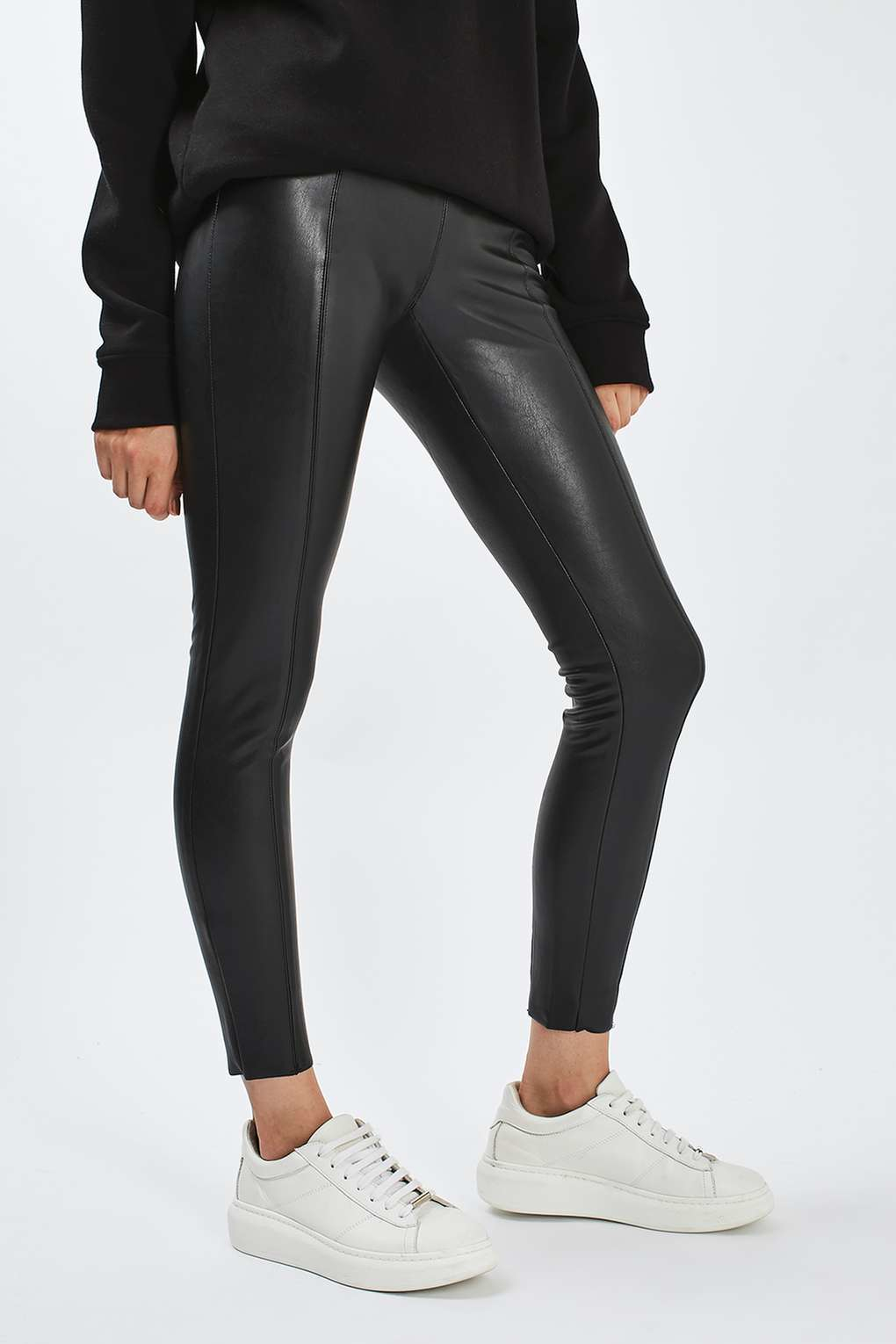 how to buy professional website aliexpress TOPSHOP Black Percy Faux Leather Skinny Pants