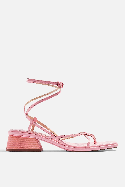 35556536001a TOPSHOP - Nova Pink Strappy Sandals - Lyst. View fullscreen