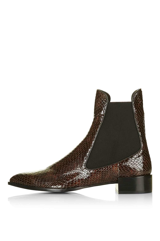 Lyst Topshop Belvoir Textured Chelsea Boots By Unique In