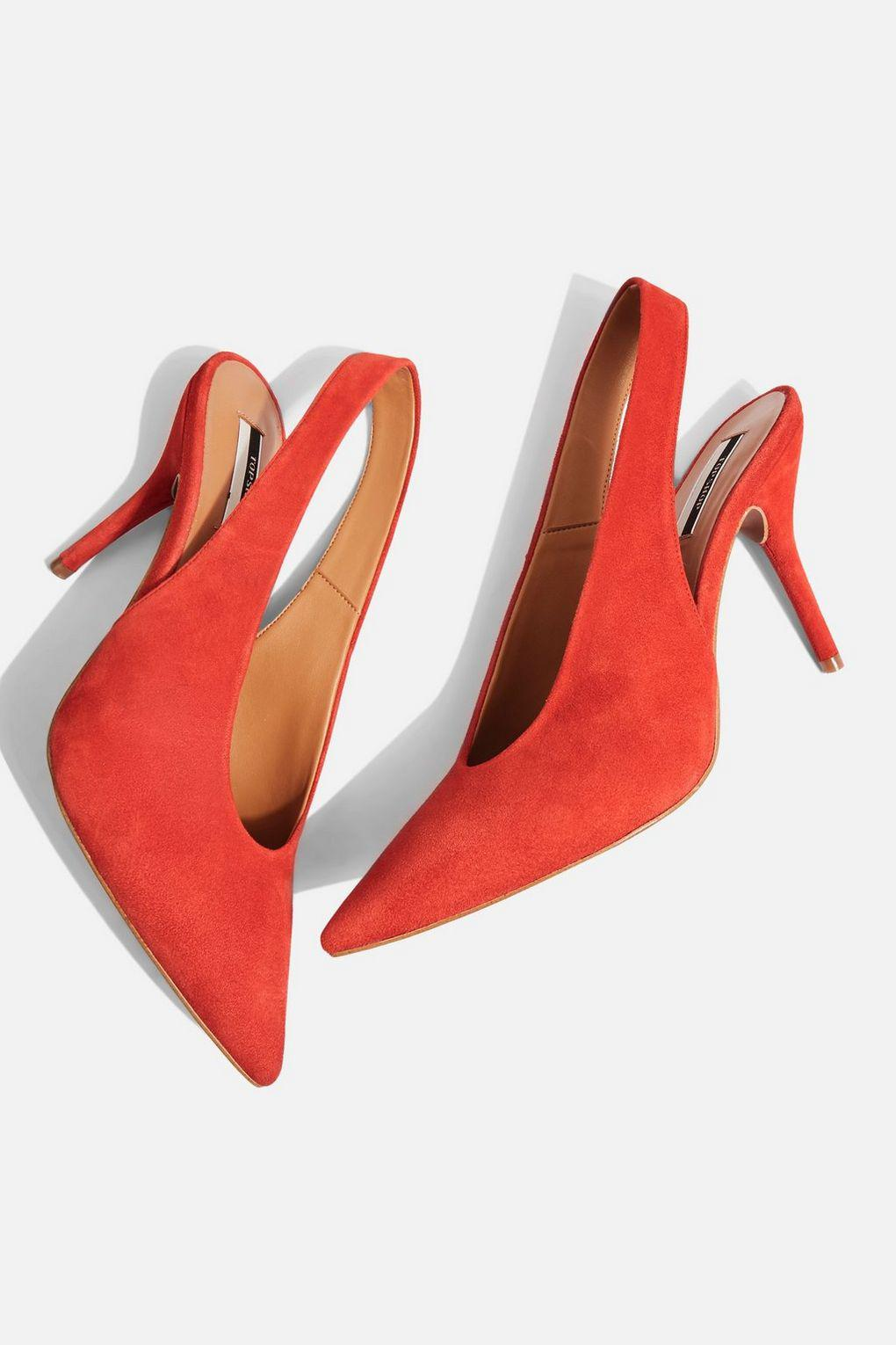 ee45913f585 Lyst - TOPSHOP Gail Slingback Shoes in Red