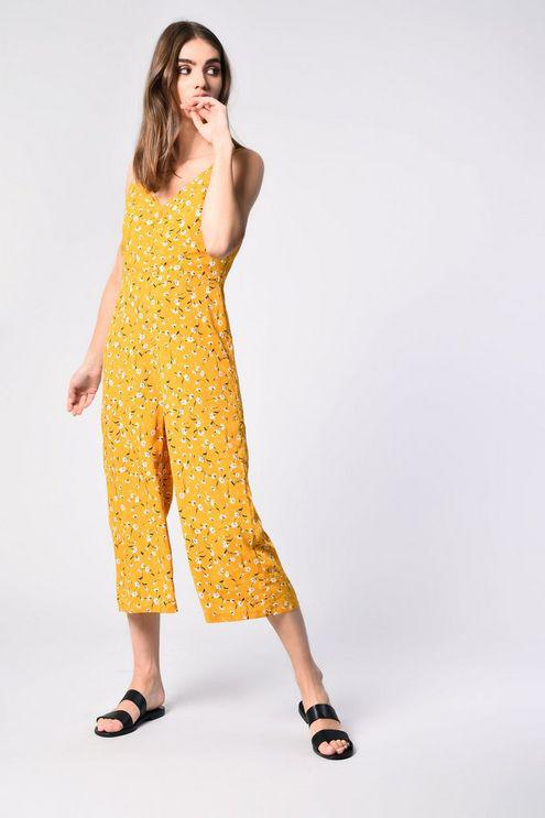 21b135bbbe Glamorous button Through Jumpsuit By in Yellow - Lyst