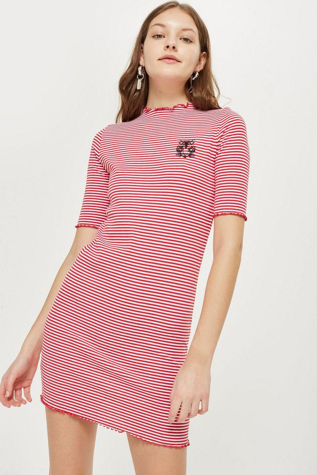 Buy Cheap 100% Authentic Low Price Fee Shipping For Sale Topshop Womens Petite Lettuce Edge Bodycon Dress - Quality From China Cheap Clearance Clearance 6R5Bk3j