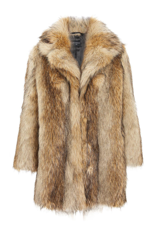 Mink Coat Value >> Topshop Ultimate Vintage Faux Fur Coat In Brown Lyst