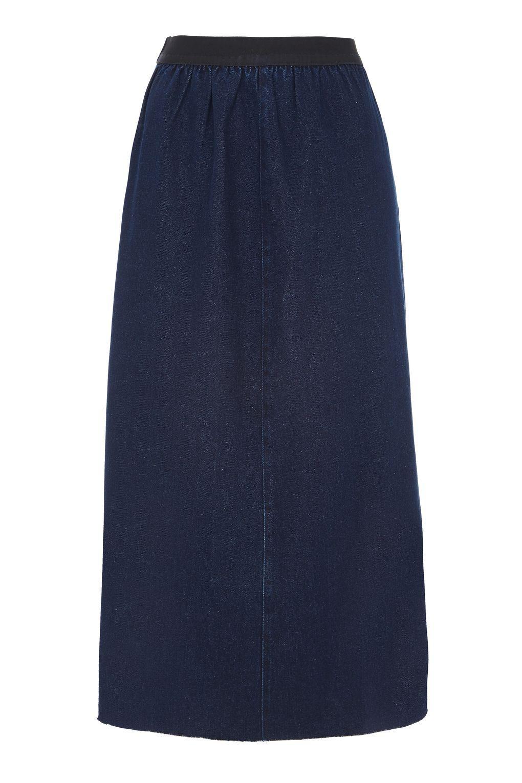 topshop denim skirt by waven in blue lyst