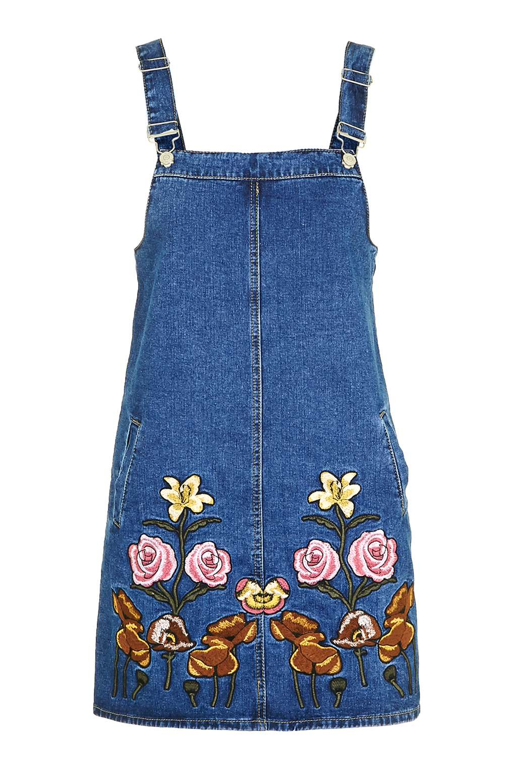 Glamorous embroidered denim dress by in blue lyst