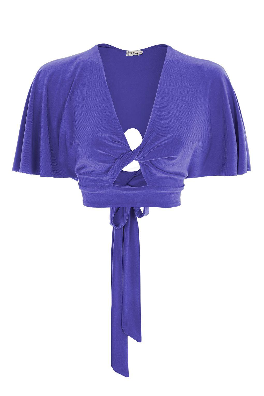 Love Kimono Sleeve Twist Top By in Blue | Lyst