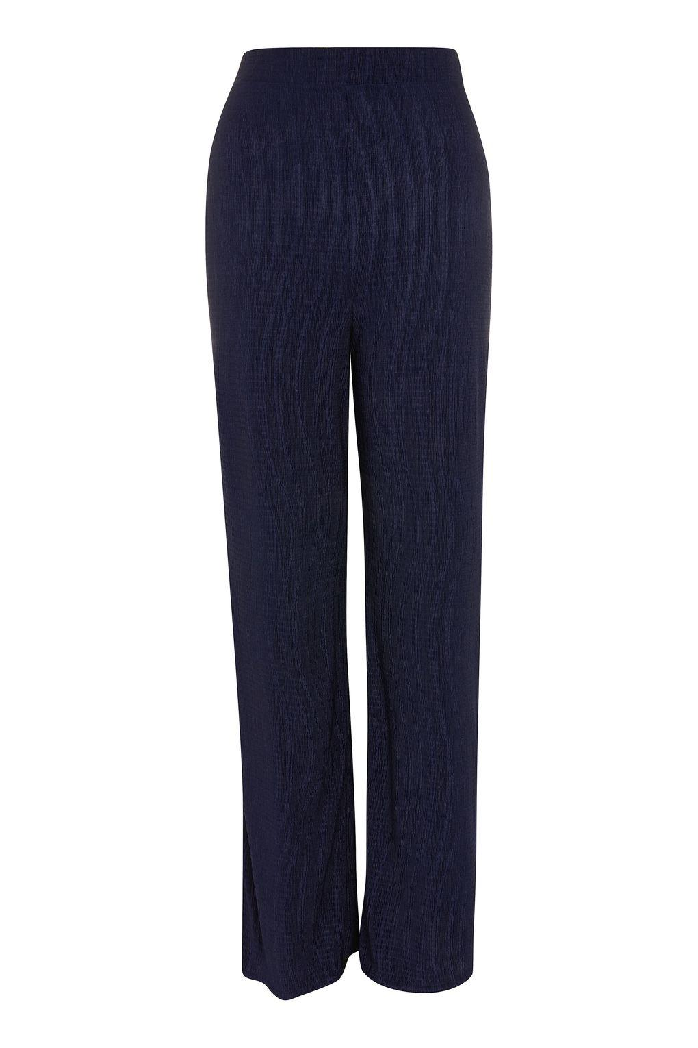Love. Women's Blue Textured Trousers By