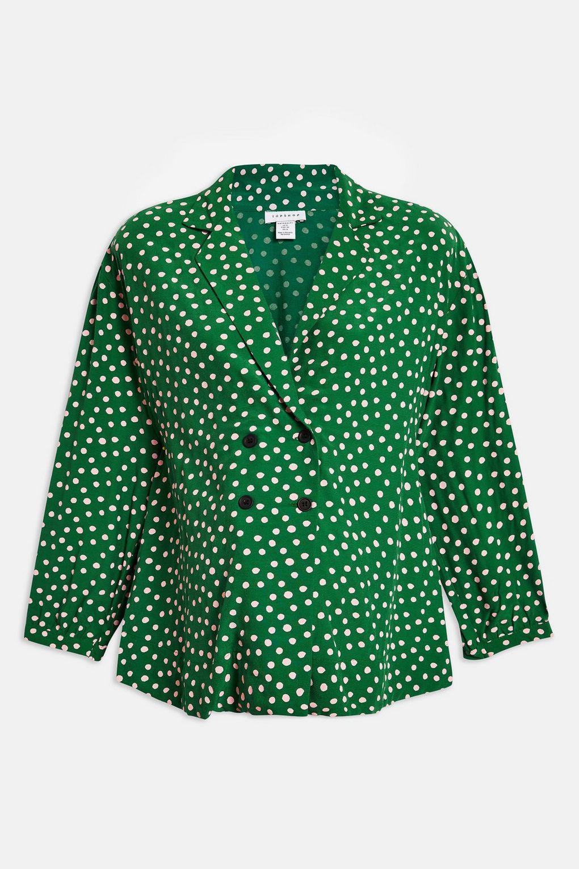 8050e7eb4c9 Topshop maternity Spot Pj Shirt in Green - Lyst