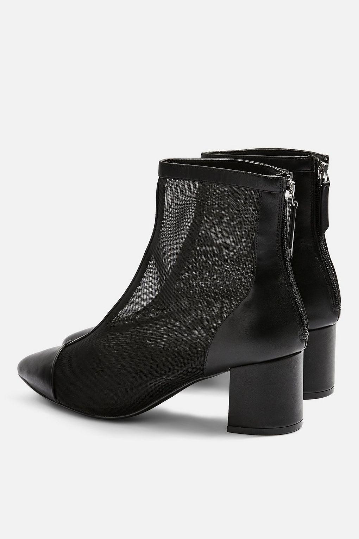 d3ec1c0ad TOPSHOP Briony Mesh Boots in Black - Lyst