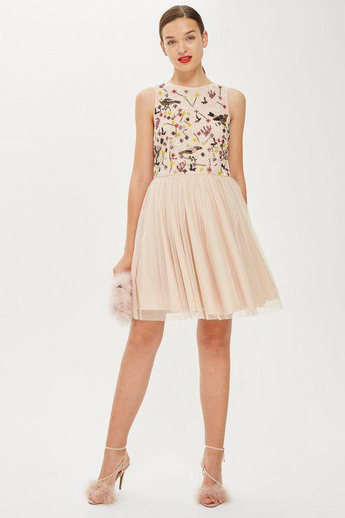 691dbcfd3dfc4 LACE & BEADS skater Dress By in Natural - Lyst