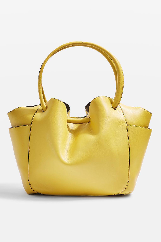8ea1bad584 Lyst - Topshop Sara Pocket Shopper Bag in Yellow
