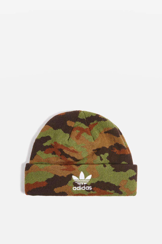 af5c55186f6 adidas Originals Camouflage Beanie Hat By in Green - Lyst