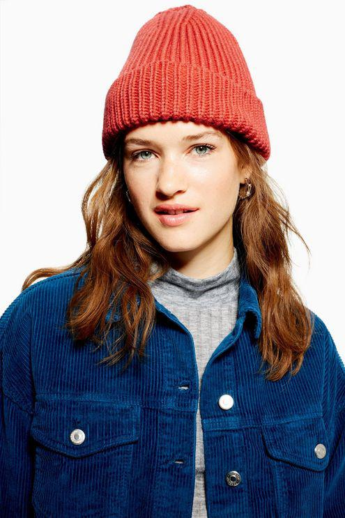 419fb61f2d1 TOPSHOP Fisherman Beanie in Red - Lyst